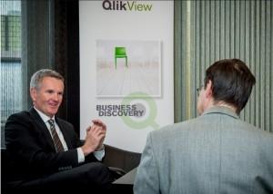 Lars Björk (links) ist seit 2007 CEO des Business-Intelligence-Anbieters QlikTech.