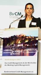 """""""Mit Hilfe von Cormeta RMsprint konnten wir die Ertrags- und Liquiditätslage deutlich verbessern"""", berichtet Eva Kern aus Buchhaltung des Stahlhändlers Böhler-Uddeholm auf dem Kongress des Bundesverbands Credit Management."""