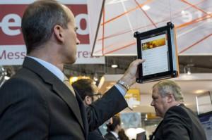 Mobile Kundenbetreuung ist Thema der CRM-Expo. Die DMS Expo informiert über Dokumentenmanagement, die IT&Business über Enterprise Resource Planning. © Messe Stuttgart