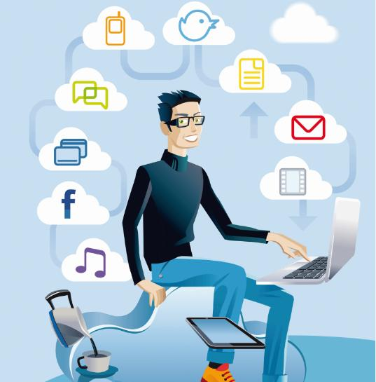 Arbeitsplatz zeichnung  Digitalisierung formt den Arbeitsplatz der Zukunft