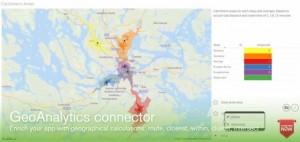 Mit der Technologie des übernommenen Anbieters Idevio können Anwender von Qlikview ihre Visualisierungen um standortbezogene Informationen anreichern. Quelle: Qlik